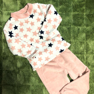 GU - GU上下セット星柄キッズパジャマ☆ふわもこ!