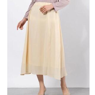イーハイフンワールドギャラリー(E hyphen world gallery)のイエローのスカート(ロングスカート)