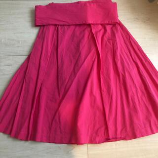 オペークドットクリップ(OPAQUE.CLIP)のピンク ショッキングピンク 膝丈スカート(ひざ丈スカート)