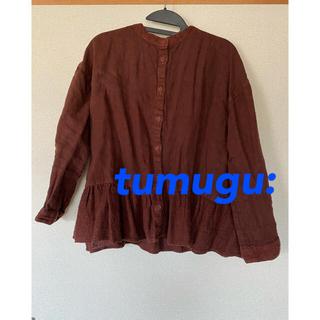 ツムグ(tumugu)のツムグリネンプルオーバー 赤 着用1回美品(その他)