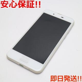 アクオス(AQUOS)の美品 SIMロック解除済み SH-01K ホワイト 本体 白ロム (スマートフォン本体)