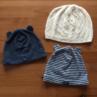 ベビーギャップ(babyGAP)の美品 新生児ベビー 帽子 まとめ売り 3セット(帽子)