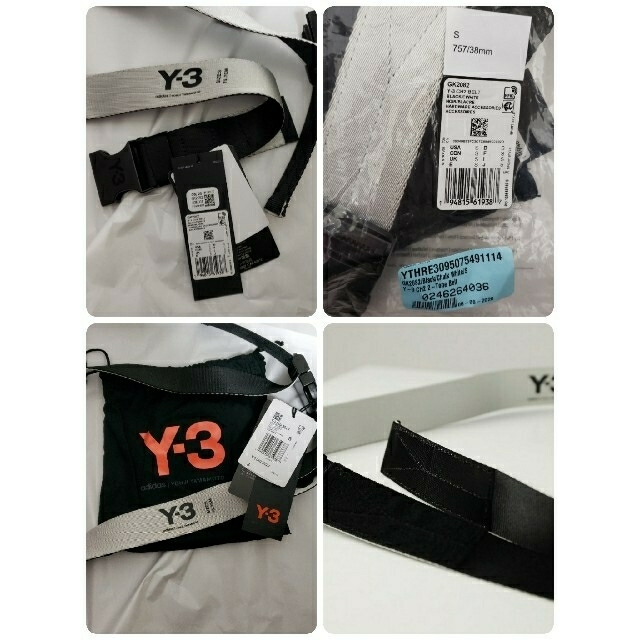 Y-3(ワイスリー)のY-3 CH2 2TONE BELT(BLACK/OFF WHITE) メンズのファッション小物(ベルト)の商品写真
