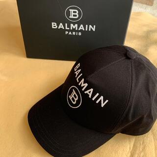 バルマン(BALMAIN)のBALMAIN 刺繍 ロゴ コットン ベースボール キャップ(キャップ)