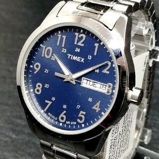 タイメックス(TIMEX)のタイメックス【新品未使用】サウスストリート ブルー メンズ 腕時計 TIMEX(腕時計(アナログ))