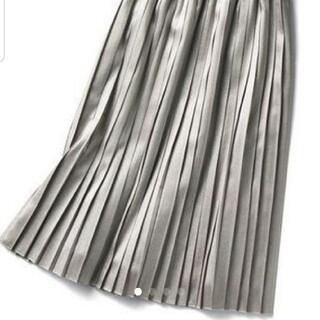 ロートレアモン(LAUTREAMONT)のDroite Lautreamont シルバーラメプリーツスカート(ロングスカート)
