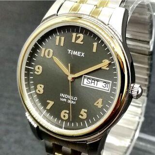 タイメックス(TIMEX)のタイメックス【新品】チャールズ ストリート ブラック メンズ 腕時計(腕時計(アナログ))