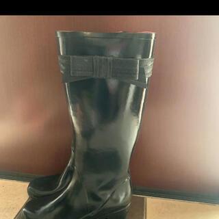ケイトスペードニューヨーク(kate spade new york)のケイトスペード☆ブラックレインブーツ(レインブーツ/長靴)