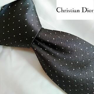 Christian Dior - クリスチャンディオール ハイブランド ネクタイ 黒 ブラック 礼装 超美品
