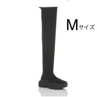 イエローブーツ(Yellow boots)の【SALE 様専用】YELLO ロング スニーカーブーツ  黒(ブーツ)