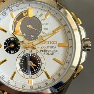 セイコー(SEIKO)の【新品】セイコー上級コーチュラ ソーラー SEIKO メンズ腕時計 ホワイト(腕時計(アナログ))