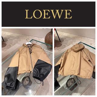 ロエベ(LOEWE)のロエベ レザーカフーデッドジャケット(その他)
