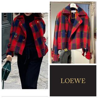 ロエベ(LOEWE)のロエベ ボタン部分革 ウールジャケット(その他)