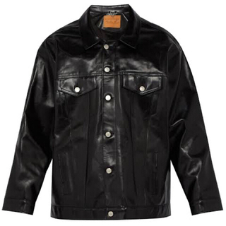 ラフシモンズ(RAF SIMONS)のmartine rose over size leather jacket(レザージャケット)