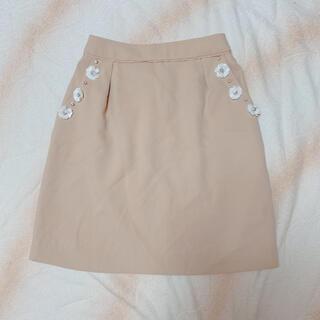 ロディスポット(LODISPOTTO)のロディスポット 花 ビジュー付 スカート(ミニスカート)