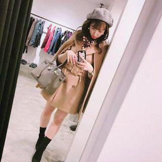 リリーブラウン(Lily Brown)のLily Brown ケープウールコート♡三上悠亜着用 正規品 キャメル(ポンチョ)