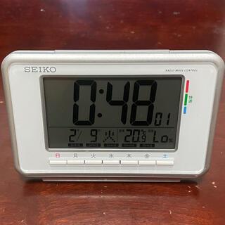 セイコー(SEIKO)のザイオン様専用 セイコー SEIKO 目覚まし時計 電波 SQ775W(置時計)