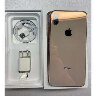 アイフォーン(iPhone)のiphone Xs Max Gold 64Gb Simフリーバッテリー100%(携帯電話本体)
