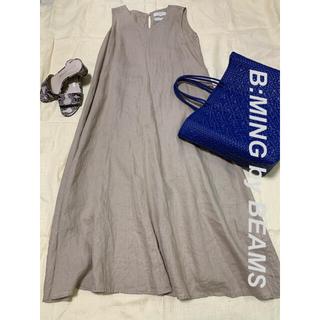 ビーミング ライフストア バイ ビームス(B:MING LIFE STORE by BEAMS)のB:MING by BEAMS  リネン100%ノースリーブワンピース(ロングワンピース/マキシワンピース)