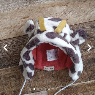 キッズズー(kid's zoo)のkid's zooキッズズー ベビー帽子 牛 牛柄 干支48cm(帽子)