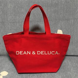ディーンアンドデルーカ(DEAN & DELUCA)のDEAN&DELUCA トートバッグ 赤×シルバーラメ(トートバッグ)