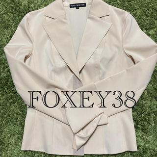 フォクシー(FOXEY)のママ応援価格FOXEYテーラードジャケット38ベージュ入学式卒業式(テーラードジャケット)