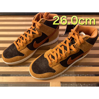 ナイキ(NIKE)のNIKE DUNK HIGH DARK CURRY 26.0cm US8(スニーカー)