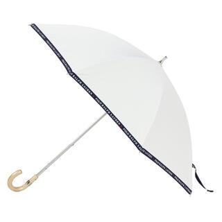 """ポロラルフローレン(POLO RALPH LAUREN)の晴雨兼用傘 """"ロゴ グログラン"""" オフホワイト(傘)"""
