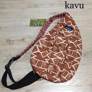 カブー(KAVU)のkavu カブー ワンショルダー ロープショルダー 総柄 ボディバッグ(ショルダーバッグ)