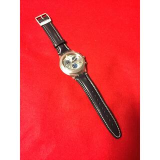 スウォッチ(swatch)の新品未使用保管品日本未入荷モデル?Swatch★スウォッチ クロノグラフ革ベルト(腕時計(アナログ))