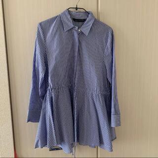 ザラ(ZARA)の春夏 ZARAウエストマークシャツ ストライプ【完売品】(シャツ/ブラウス(長袖/七分))