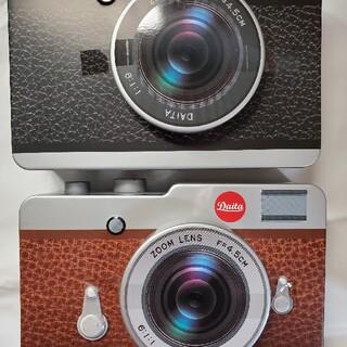 カルディ(KALDI)のカメラ缶カルディ2種!(菓子/デザート)