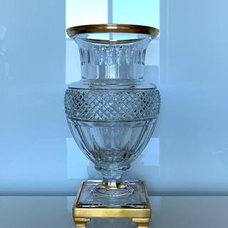 バカラ(Baccarat)の✯極レア 豪華 Baccarat メディチ  ベース クリスタル 花瓶 極美品✯(花瓶)