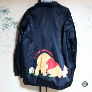 ディズニー(Disney)のDisney Poohさん 黒 ウィンドブレーカー 春コート (その他)