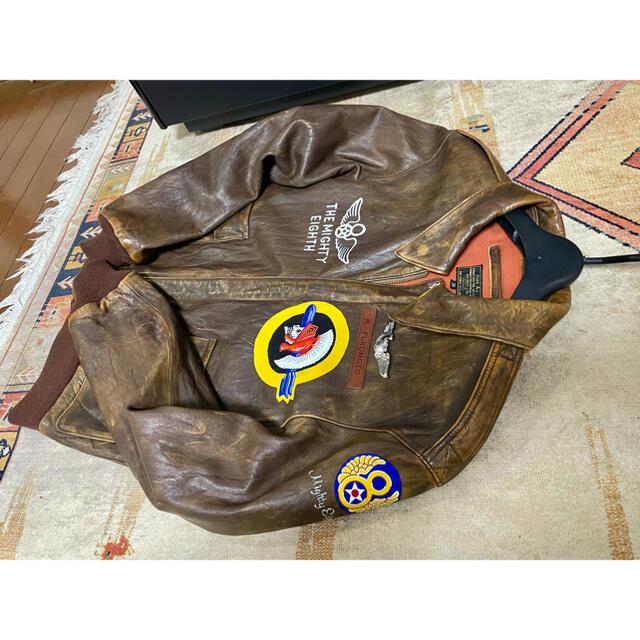 AVIREX(アヴィレックス)のアビレックスヴィンテージa2カスタムペイントフルカスタム最終値下げ メンズのジャケット/アウター(フライトジャケット)の商品写真