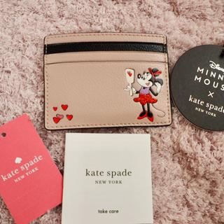 ケイトスペードニューヨーク(kate spade new york)のケイトスペード♠︎ミニーちゃん×ピンク パスケース 新品 SALE中❣️(名刺入れ/定期入れ)