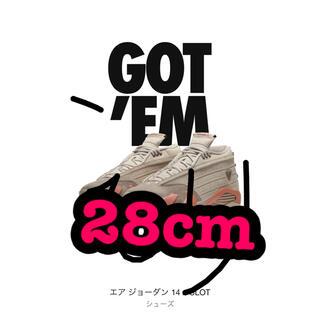ナイキ(NIKE)の28cm CLOT × NIKE AIR JORDAN 14 LOW (スニーカー)