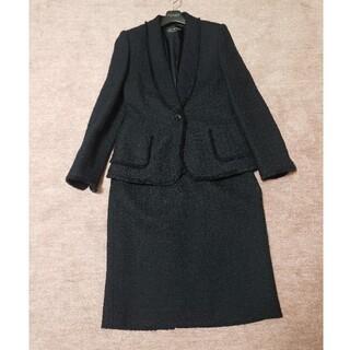 ジュンアシダ(jun ashida)の美品 ミスアシダ ネイビースーツ ツイード(スーツ)