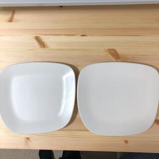 アクタス(ACTUS)のACTUS 変形 プレート 皿 シンプル 四角 白 ホワイト 2枚セット(食器)
