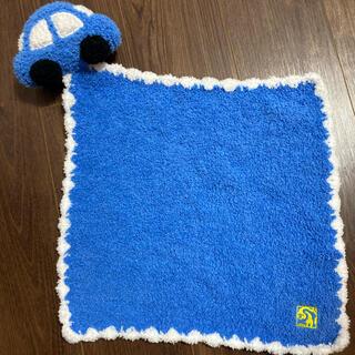 カシウエア(kashwere)のカシウェア ベビーミニブランケット 毛布 ブルー 車(おくるみ/ブランケット)