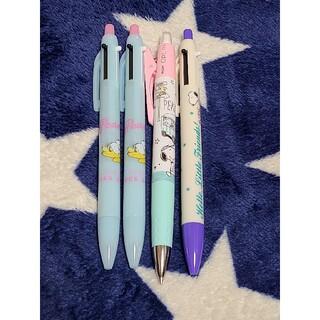 SNOOPY - ピーナッツ スヌーピー 3色ペン 4本セット筆記用具 文房具 シャーペン