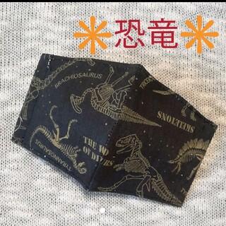 【恐竜化石 骨】かっこいい恐竜 オックス 子供立体インナーマスク(外出用品)