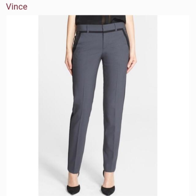 Vince(ビンス)の新品 Vince センタープレス パイピング パンツ theory 2サイズ レディースのパンツ(その他)の商品写真