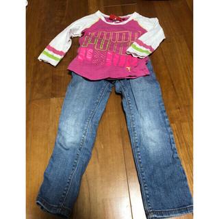 プーマ(PUMA)の子供服上下セット110センチ・5歳 プーマ ロンT+オールドネイビー ジーンズ(パンツ/スパッツ)