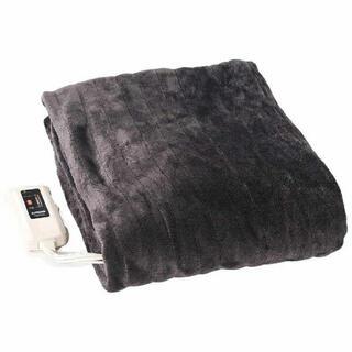 ヤマゼン(山善)のYAMAZEN ミックスフランネル YMK-MF41 電気掛敷毛布 中古品(電気毛布)