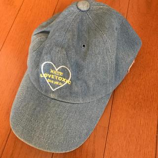 ラブトキシック(lovetoxic)のラブトキ デニムキャップ フリーサイズ(帽子)