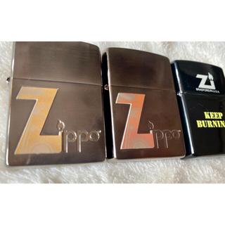 ジッポー(ZIPPO)のジッポ ZIPPO ライター Ziロゴ3点セット(タバコグッズ)