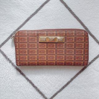 キューポット(Q-pot.)のビターチョコレート ラウンドファスナーウォレット(財布)