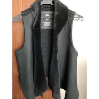 ダブルスタンダードクロージング(DOUBLE STANDARD CLOTHING)のダブルスタンダード ムートン切替ジレ(ベスト/ジレ)