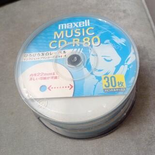 マクセル(maxell)の【新品未開封】maxell music CD-R 80 30枚入(PC周辺機器)